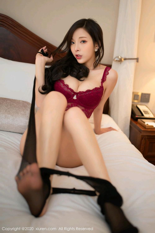 [XiuRen] Vol.2272 Chen Xiao Miao 33P, Black Silk, Chen Xiao Miao, Cheongsam, Tall, Underwear, Xiuren