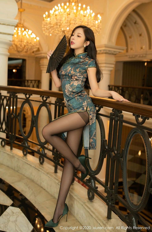 [XiuRen] Vol.2272 Chen Xiao Miao 41P, Black Silk, Chen Xiao Miao, Cheongsam, Tall, Underwear, Xiuren
