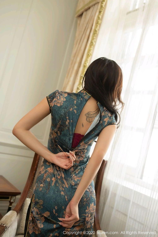 [XiuRen] Vol.2272 Chen Xiao Miao 63P, Black Silk, Chen Xiao Miao, Cheongsam, Tall, Underwear, Xiuren