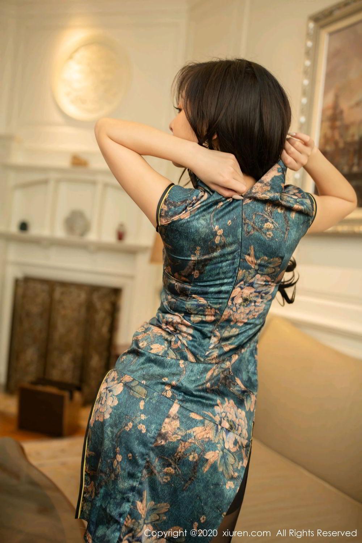[XiuRen] Vol.2272 Chen Xiao Miao 6P, Black Silk, Chen Xiao Miao, Cheongsam, Tall, Underwear, Xiuren