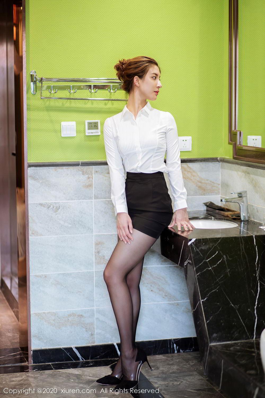 [XiuRen] Vol.2276 Lin Wen Wen 10P, Black Silk, Lin Wen Wen, Tall, Xiuren