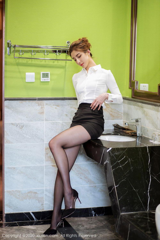 [XiuRen] Vol.2276 Lin Wen Wen 13P, Black Silk, Lin Wen Wen, Tall, Xiuren
