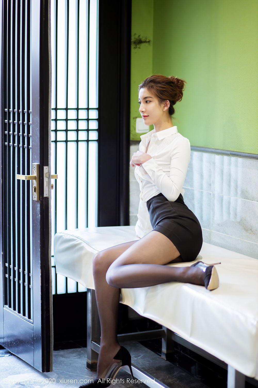 [XiuRen] Vol.2276 Lin Wen Wen 18P, Black Silk, Lin Wen Wen, Tall, Xiuren