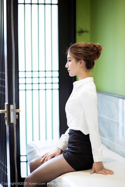 [XiuRen] Vol.2276 Lin Wen Wen 19P, Black Silk, Lin Wen Wen, Tall, Xiuren