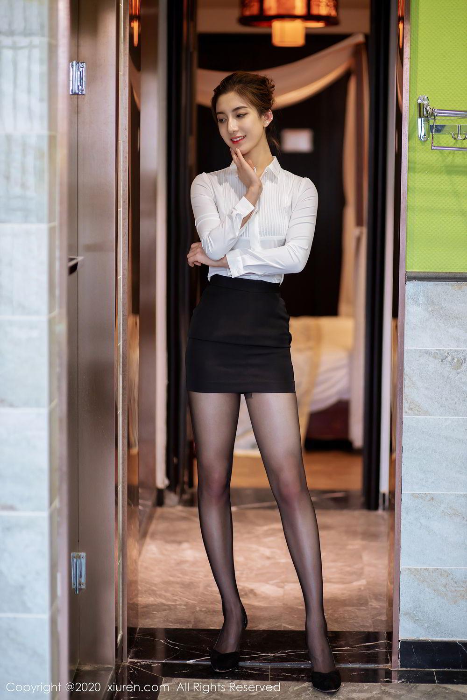 [XiuRen] Vol.2276 Lin Wen Wen 1P, Black Silk, Lin Wen Wen, Tall, Xiuren