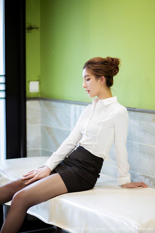 [XiuRen] Vol.2276 Lin Wen Wen 20P, Black Silk, Lin Wen Wen, Tall, Xiuren