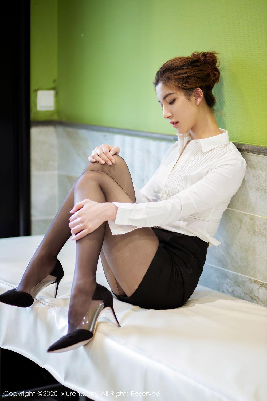 [XiuRen] Vol.2276 Lin Wen Wen 21P, Black Silk, Lin Wen Wen, Tall, Xiuren