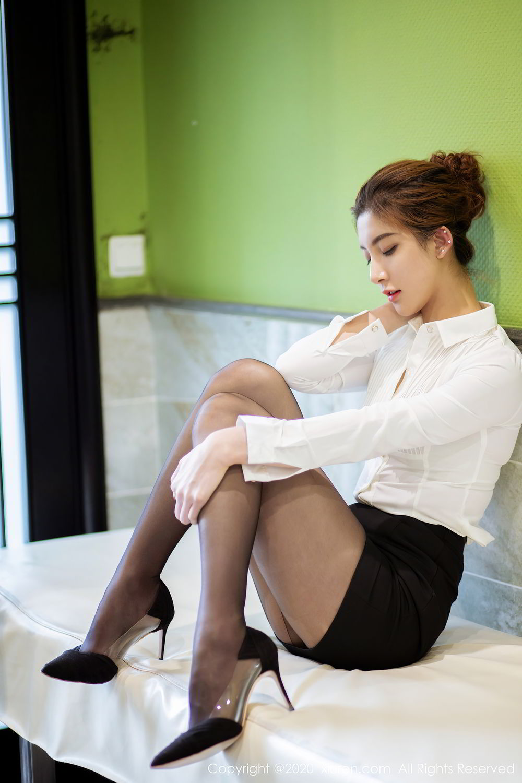 [XiuRen] Vol.2276 Lin Wen Wen 24P, Black Silk, Lin Wen Wen, Tall, Xiuren