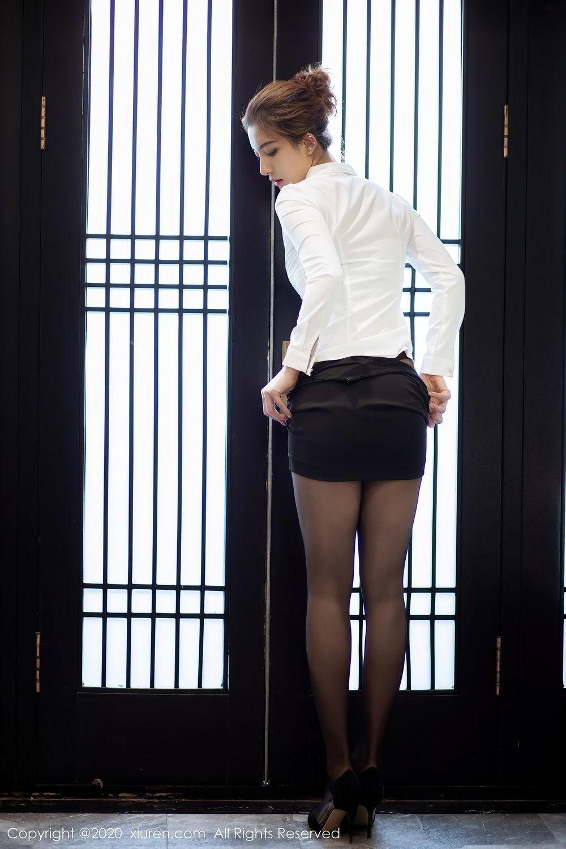 [XiuRen] Vol.2276 Lin Wen Wen 28P, Black Silk, Lin Wen Wen, Tall, Xiuren