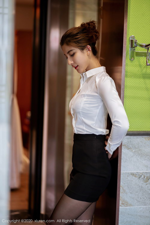 [XiuRen] Vol.2276 Lin Wen Wen 2P, Black Silk, Lin Wen Wen, Tall, Xiuren