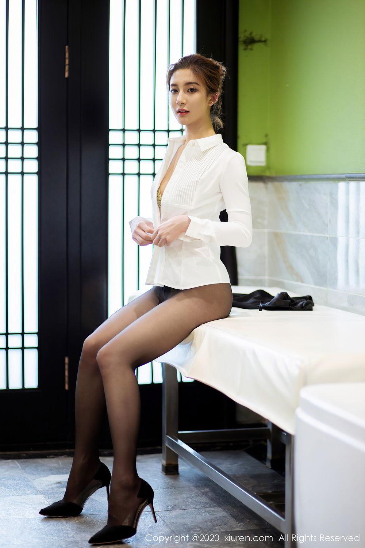 [XiuRen] Vol.2276 Lin Wen Wen 37P, Black Silk, Lin Wen Wen, Tall, Xiuren