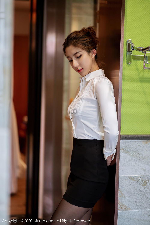 [XiuRen] Vol.2276 Lin Wen Wen 3P, Black Silk, Lin Wen Wen, Tall, Xiuren
