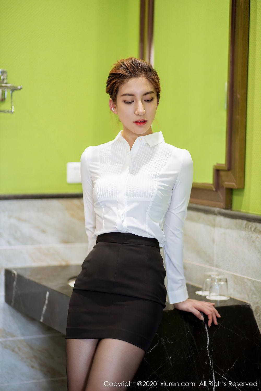 [XiuRen] Vol.2276 Lin Wen Wen 5P, Black Silk, Lin Wen Wen, Tall, Xiuren