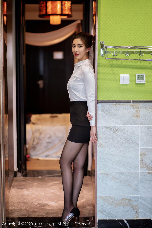 [XiuRen] Vol.2276 Lin Wen Wen 66P, Black Silk, Lin Wen Wen, Tall, Xiuren