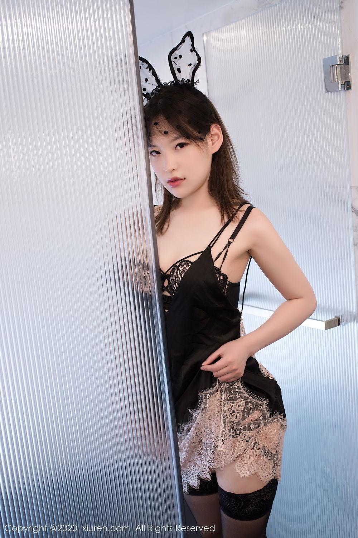 [XiuRen] Vol.2278 Xiao Xuan Fancy 17P, Bathroom, Black Silk, Underwear, Xiao Xuan Fancy, Xiuren
