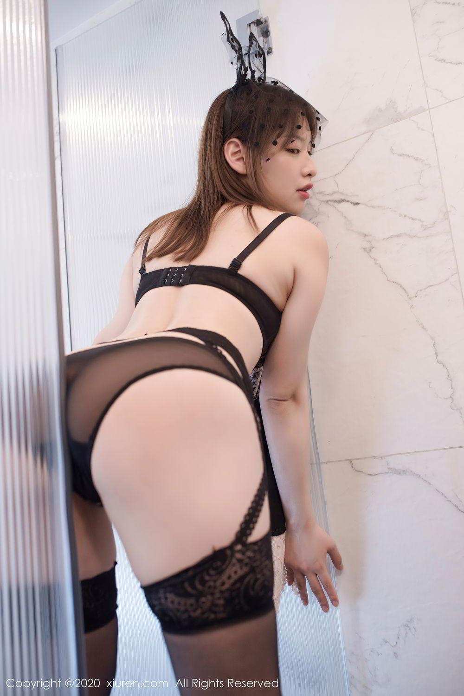 [XiuRen] Vol.2278 Xiao Xuan Fancy 31P, Bathroom, Black Silk, Underwear, Xiao Xuan Fancy, Xiuren