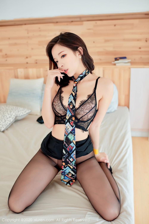 [XiuRen] Vol.2279 Chen Xiao Miao 79P, Black Silk, Chen Xiao Miao, Policewoman, Underwear, Xiuren