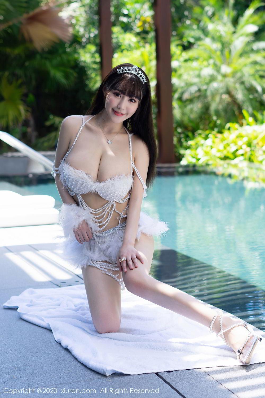[XiuRen] Vol.2282 Zhu Ke Er Flower 13P, Bikini, Swim Pool, Xiuren, Zhu Ke Er