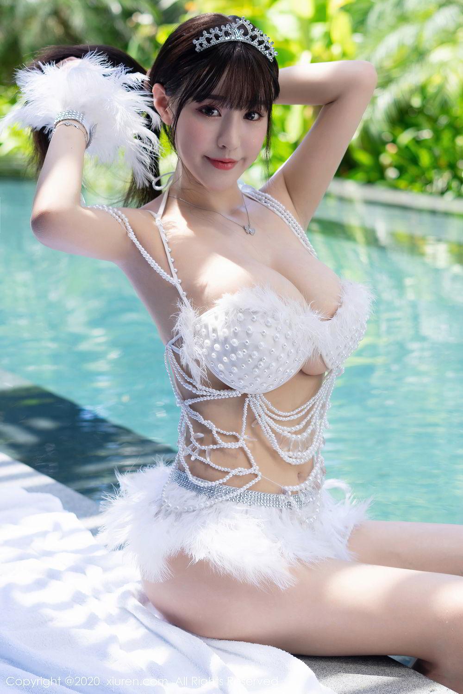[XiuRen] Vol.2282 Zhu Ke Er Flower 35P, Bikini, Swim Pool, Xiuren, Zhu Ke Er