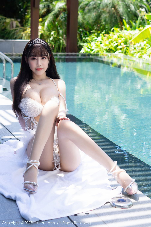 [XiuRen] Vol.2282 Zhu Ke Er Flower 3P, Bikini, Swim Pool, Xiuren, Zhu Ke Er