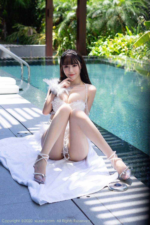 [XiuRen] Vol.2282 Zhu Ke Er Flower 5P, Bikini, Swim Pool, Xiuren, Zhu Ke Er