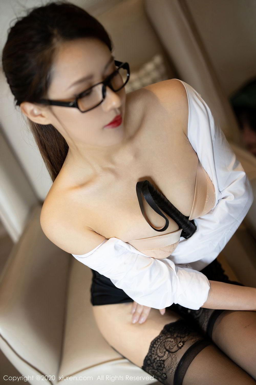 [XiuRen] Vol.2285 Xu An An 24P, Black Silk, Uniform, Xiuren, Xu An An