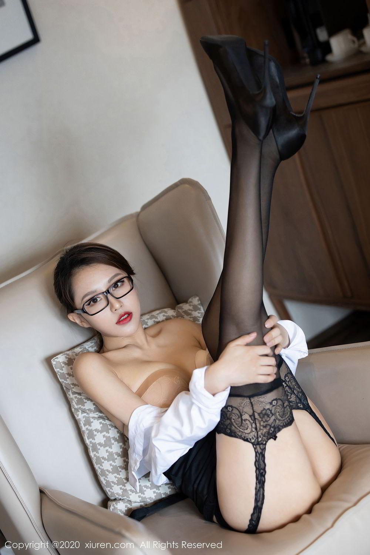 [XiuRen] Vol.2285 Xu An An 39P, Black Silk, Uniform, Xiuren, Xu An An