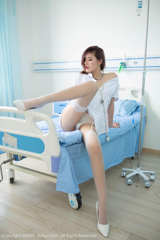 [XiuRen] Vol.2286 Jiu Shi A Zhu 54P, Jiu Shi A Zhu, Nurse, Tall, Xiuren
