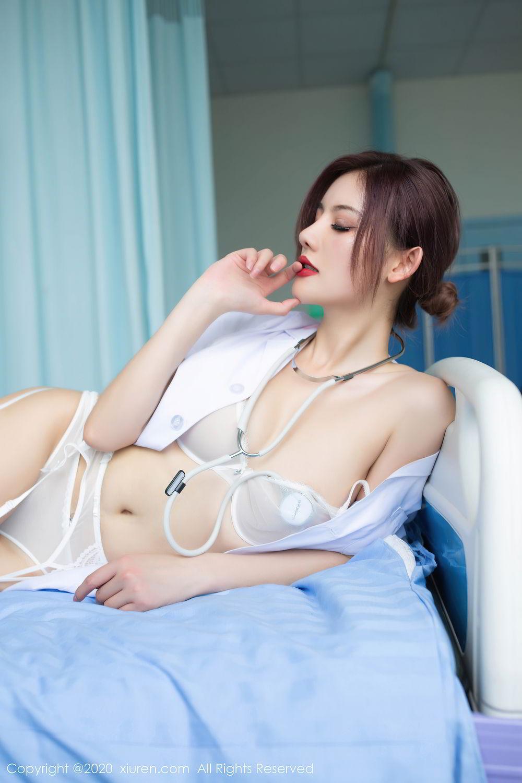 [XiuRen] Vol.2286 Jiu Shi A Zhu 74P, Jiu Shi A Zhu, Nurse, Tall, Xiuren