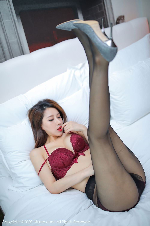 [XiuRen] Vol.2287 Xu An An 22P, Black Silk, Tall, Underwear, Xiuren, Xu An An
