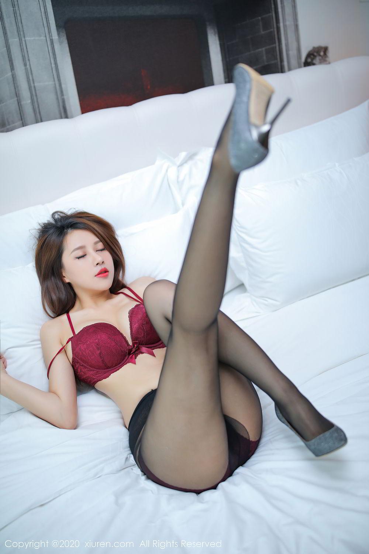 [XiuRen] Vol.2287 Xu An An 25P, Black Silk, Tall, Underwear, Xiuren, Xu An An
