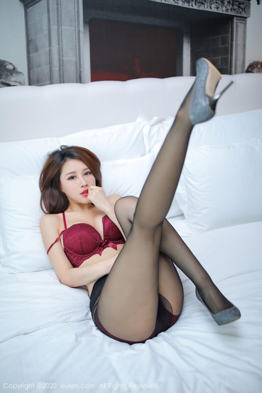 [XiuRen] Vol.2287 Xu An An 26P, Black Silk, Tall, Underwear, Xiuren, Xu An An