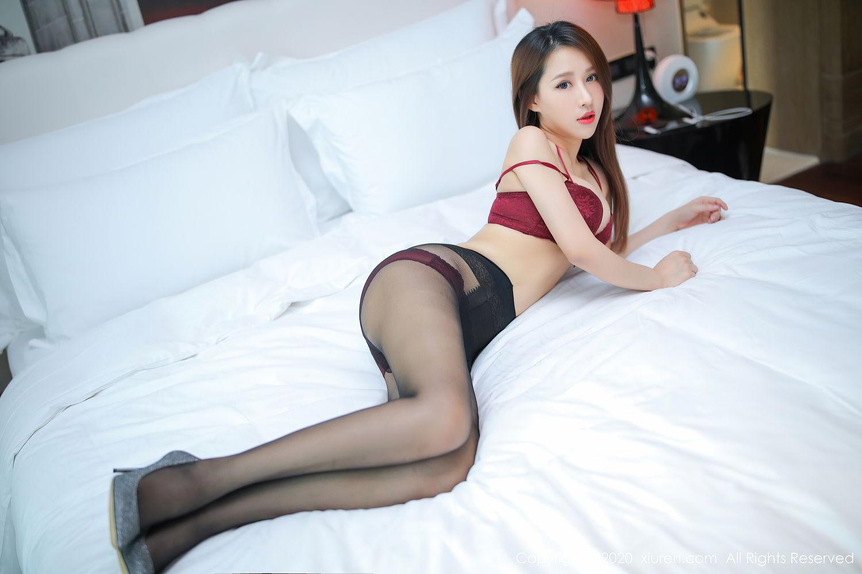 [XiuRen] Vol.2287 Xu An An 27P, Black Silk, Tall, Underwear, Xiuren, Xu An An