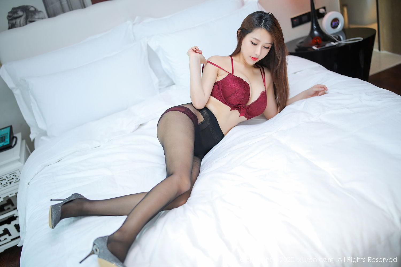 [XiuRen] Vol.2287 Xu An An 29P, Black Silk, Tall, Underwear, Xiuren, Xu An An