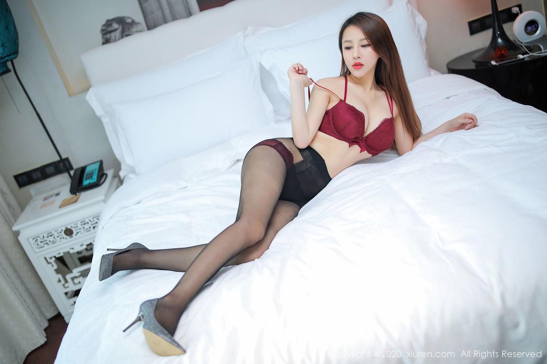[XiuRen] Vol.2287 Xu An An 30P, Black Silk, Tall, Underwear, Xiuren, Xu An An