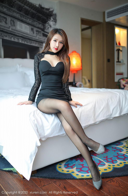 [XiuRen] Vol.2287 Xu An An 39P, Black Silk, Tall, Underwear, Xiuren, Xu An An