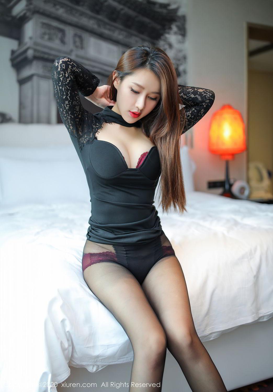 [XiuRen] Vol.2287 Xu An An 51P, Black Silk, Tall, Underwear, Xiuren, Xu An An