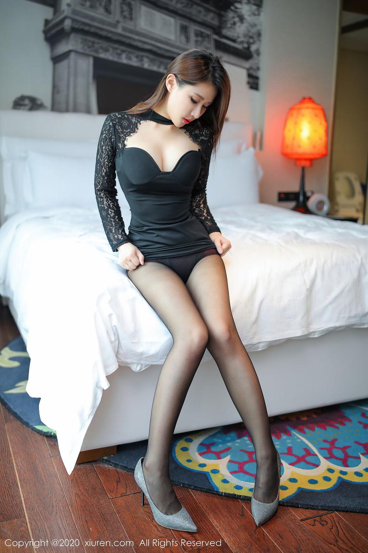 [XiuRen] Vol.2287 Xu An An 54P, Black Silk, Tall, Underwear, Xiuren, Xu An An