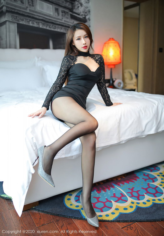 [XiuRen] Vol.2287 Xu An An 55P, Black Silk, Tall, Underwear, Xiuren, Xu An An
