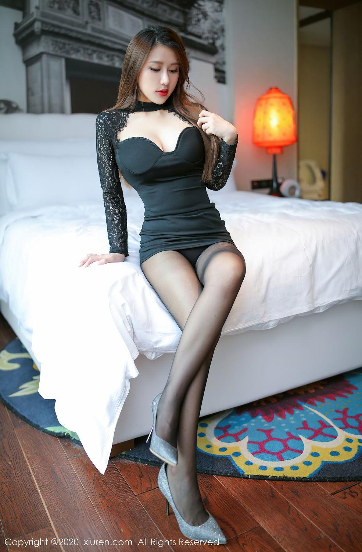 [XiuRen] Vol.2287 Xu An An 57P, Black Silk, Tall, Underwear, Xiuren, Xu An An