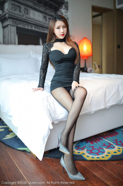 [XiuRen] Vol.2287 Xu An An 59P, Black Silk, Tall, Underwear, Xiuren, Xu An An