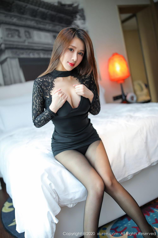 [XiuRen] Vol.2287 Xu An An 61P, Black Silk, Tall, Underwear, Xiuren, Xu An An