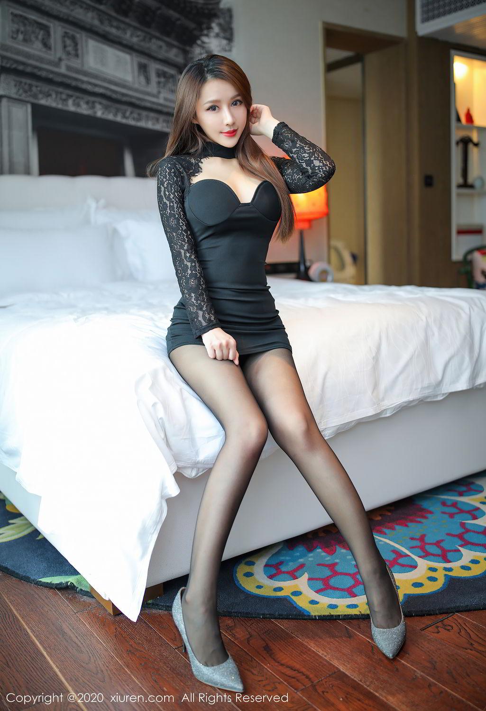 [XiuRen] Vol.2287 Xu An An 62P, Black Silk, Tall, Underwear, Xiuren, Xu An An