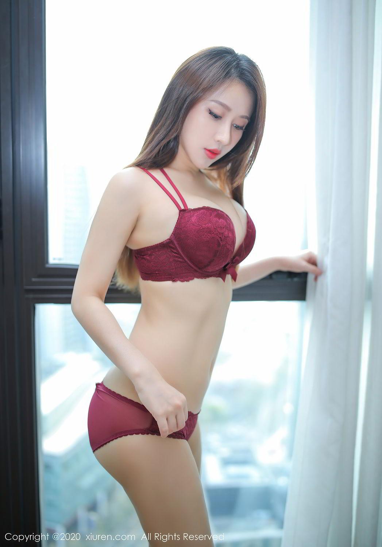 [XiuRen] Vol.2287 Xu An An 8P, Black Silk, Tall, Underwear, Xiuren, Xu An An