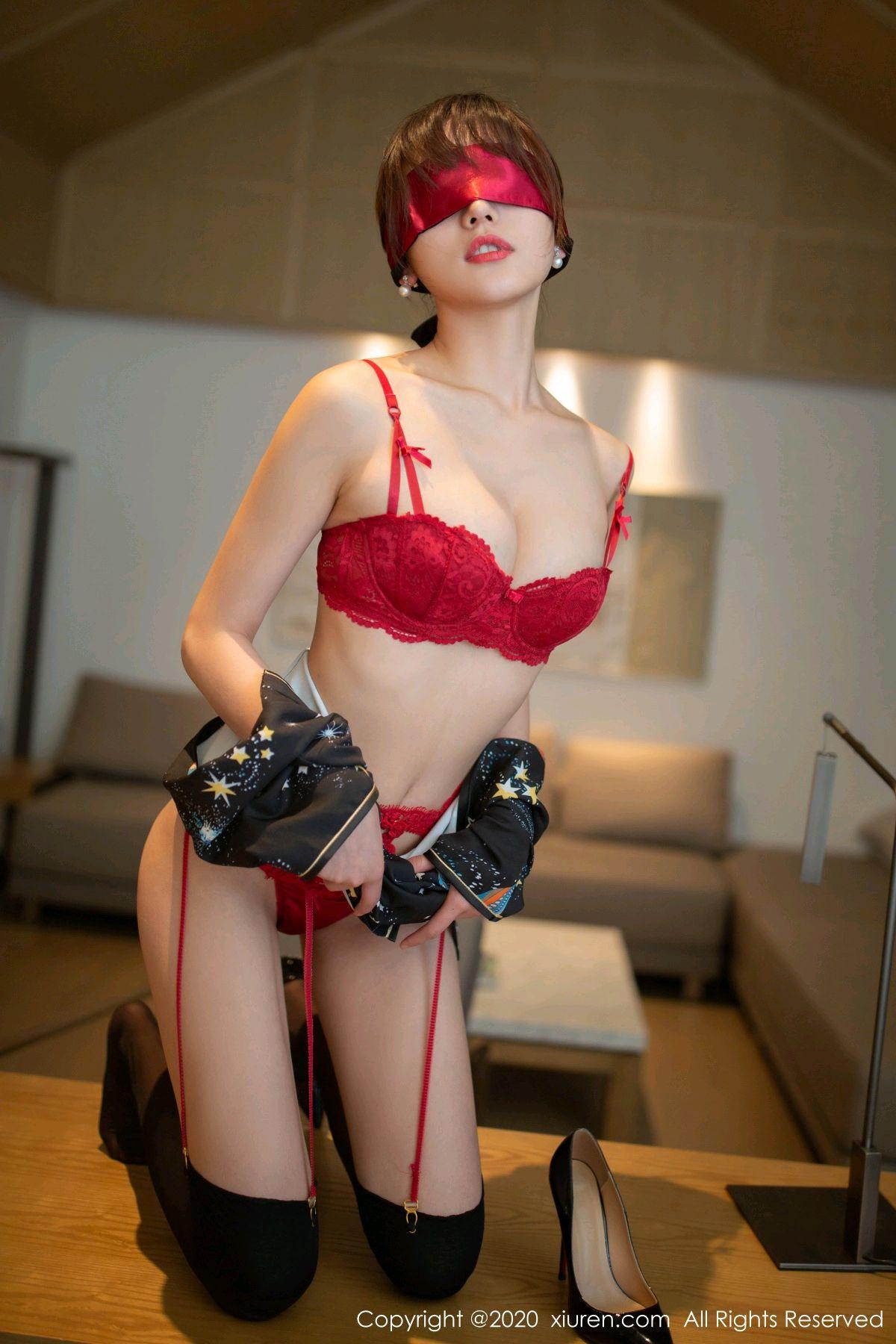[XiuRen] Vol.2289 Lu Xuan Xuan 28P, Black Silk, Cheongsam, Lu Xuan Xuan, Underwear, Xiuren