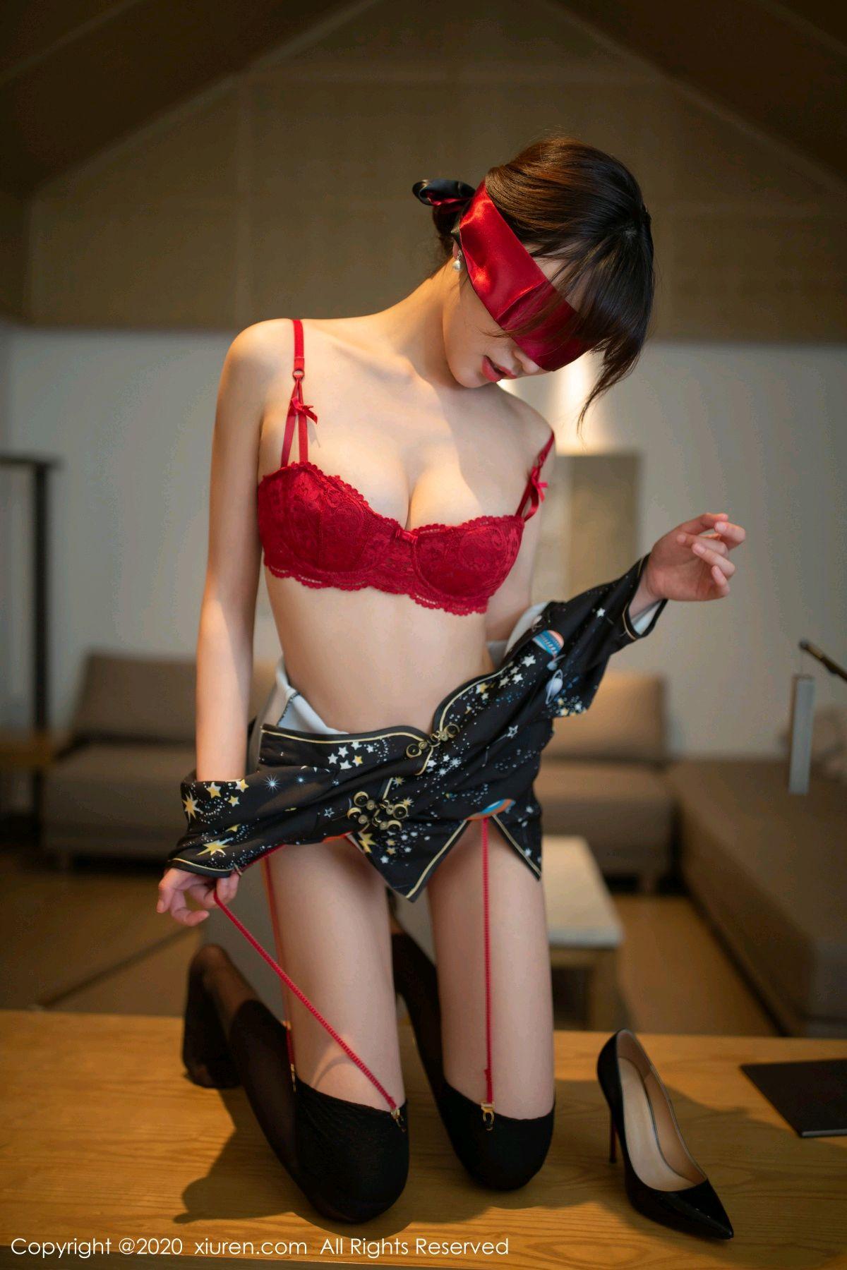 [XiuRen] Vol.2289 Lu Xuan Xuan 30P, Black Silk, Cheongsam, Lu Xuan Xuan, Underwear, Xiuren