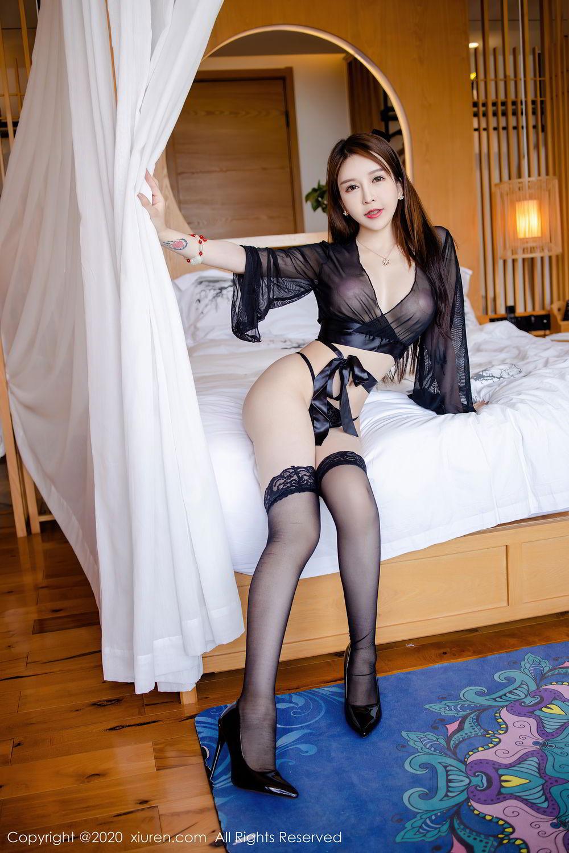 [XiuRen] Vol.2292 Yu Tu Miki 17P, Black Silk, Underwear, Xiuren, Yu Tu M I K I