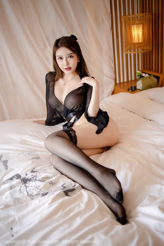 [XiuRen] Vol.2292 Yu Tu Miki 3P, Black Silk, Underwear, Xiuren, Yu Tu M I K I