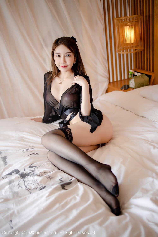 [XiuRen] Vol.2292 Yu Tu Miki 4P, Black Silk, Underwear, Xiuren, Yu Tu M I K I