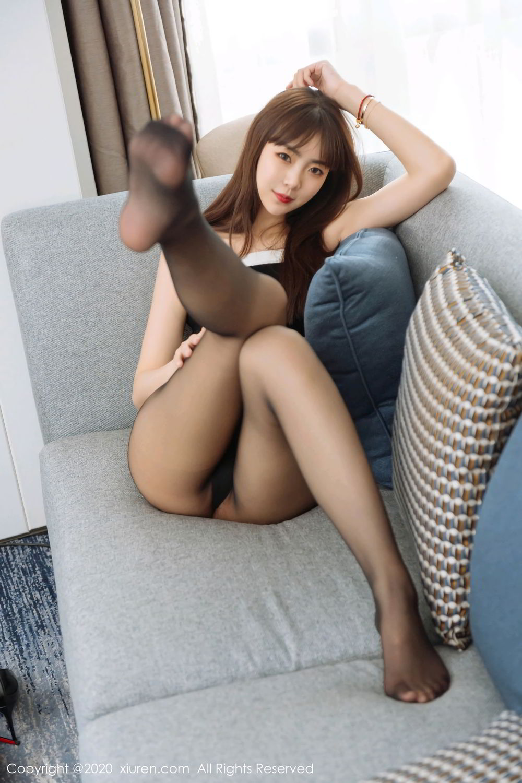 [XiuRen] Vol.2299 Ke Le Vicky 16P, Black Silk, Ke Le Vicky, Pure, Tall, Xiuren
